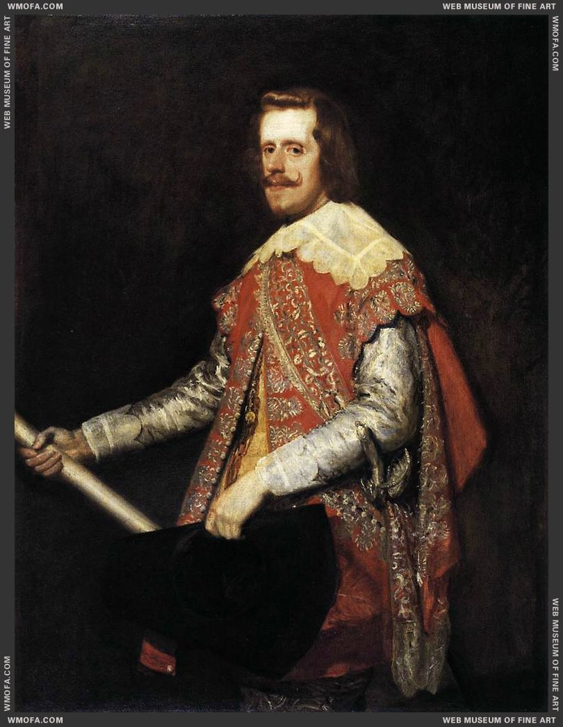 Phillip IV in Army Dress - The portrait of Fraga - 1644 by Velazquez, Diego