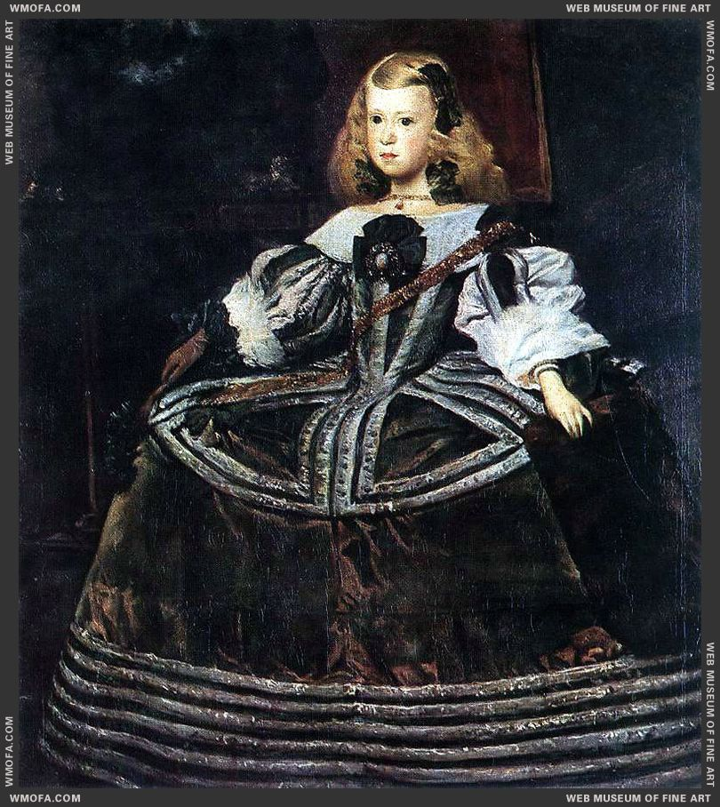 Portrait of the Infanta Margarita c1660 by Velazquez, Diego
