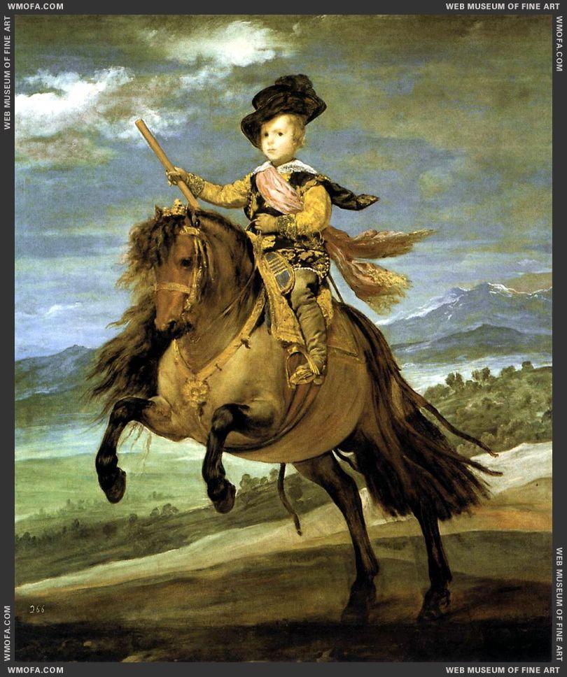 Prince Baltasar Carlos on Horseback 1635-1636 by Velazquez, Diego