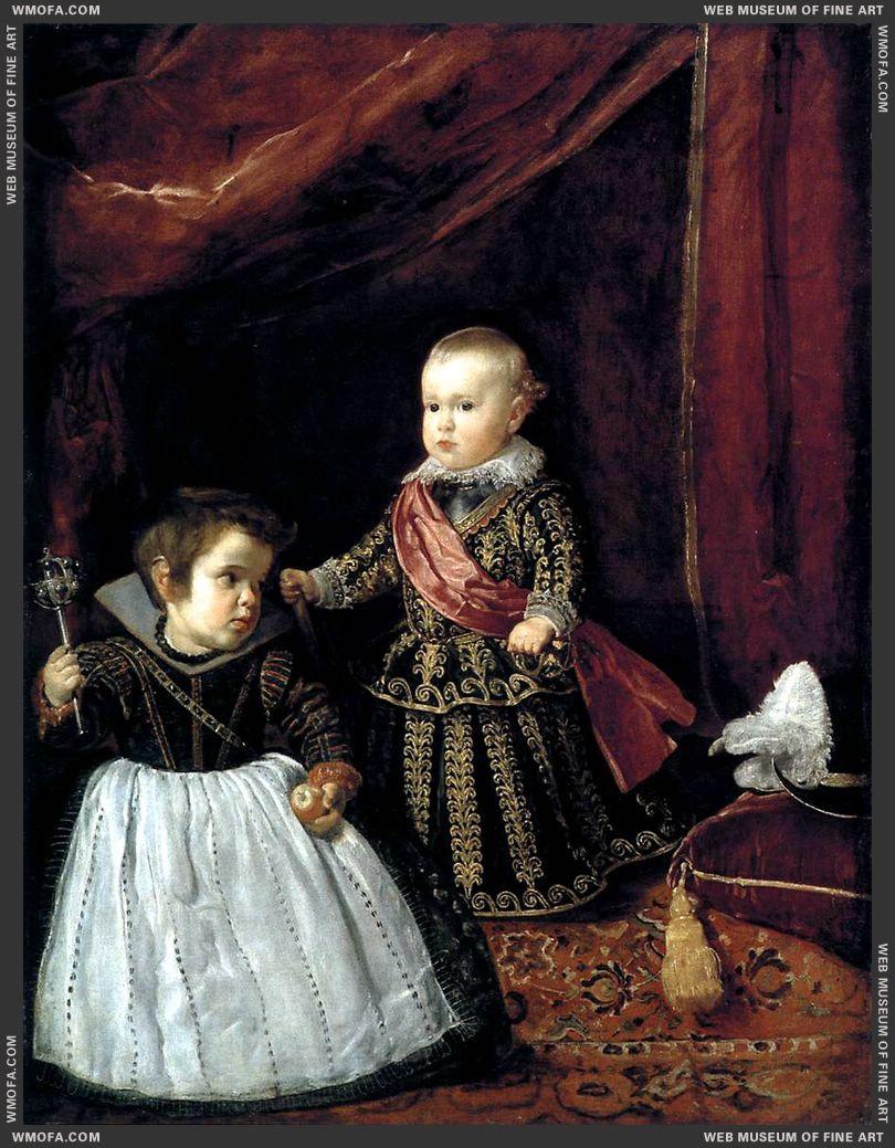Prince Baltasar Carlos with a Dwar 1631 by Velazquez, Diego