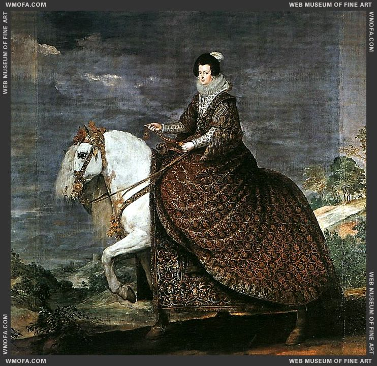 Queen Isabel of Bourbon Equestrian1634-1635 by Velazquez, Diego