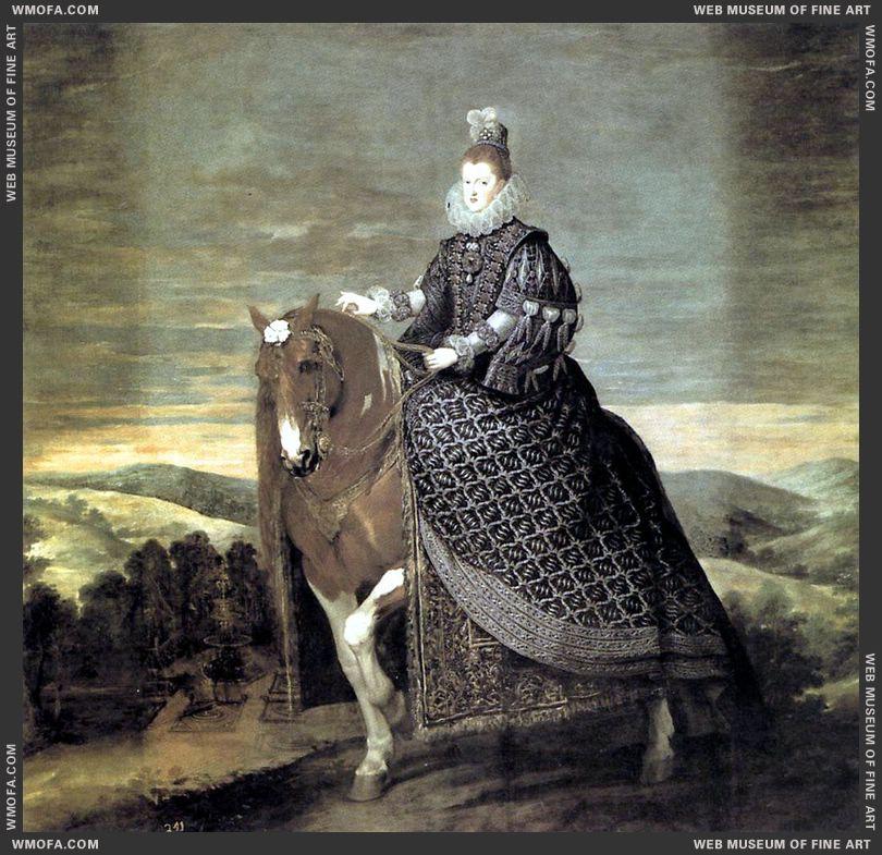 Queen Margarita on Horseback 1634-1635 by Velazquez, Diego