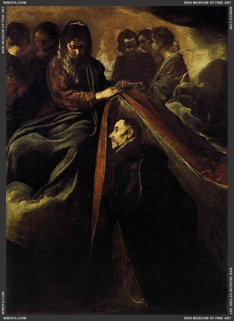 St Ildefonso Receiving the Chasuble from the Virgin c1620 by Velazquez, Diego