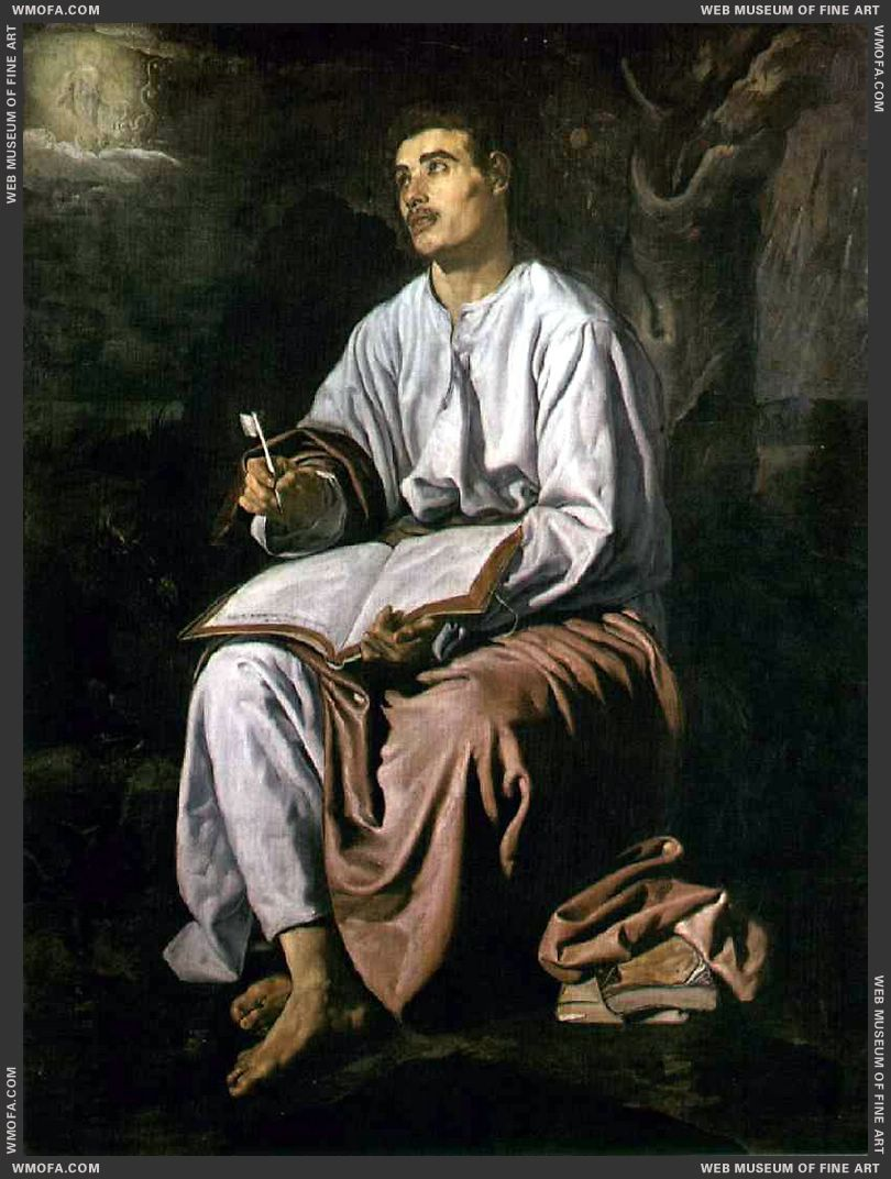 St John the Evangelist at Patmos 1618 by Velazquez, Diego