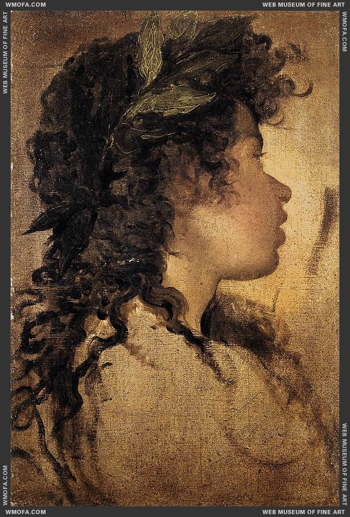 Study for the head of Apollo 1630 by Velazquez, Diego
