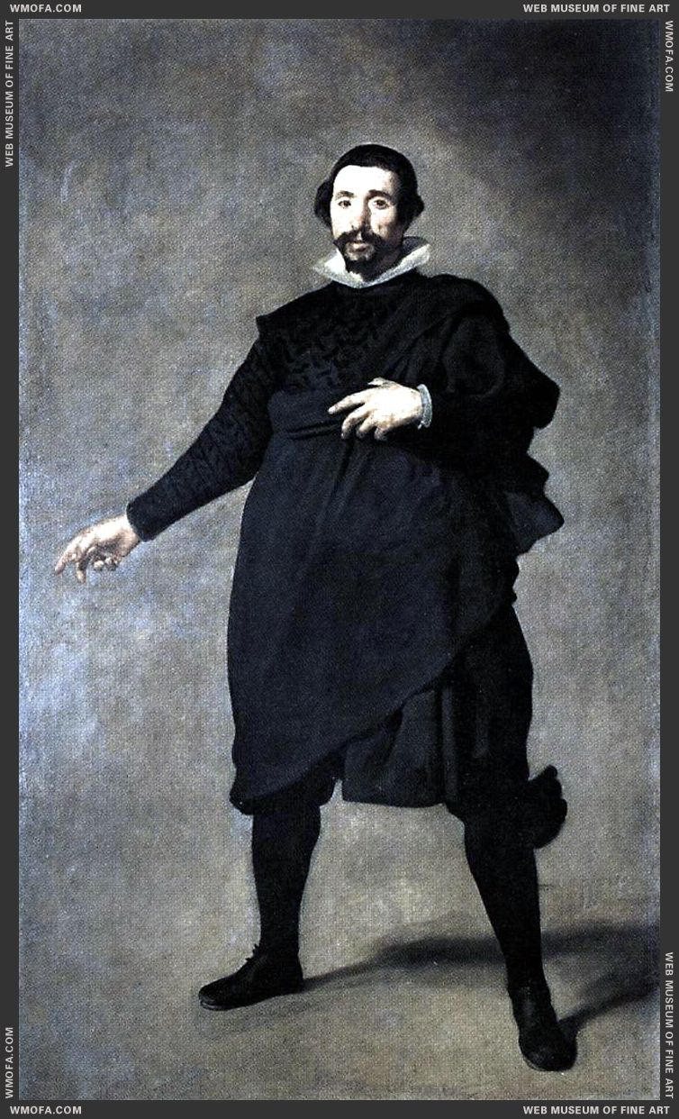 The Buffoon Pablo de Valladolid 1636-1637 by Velazquez, Diego