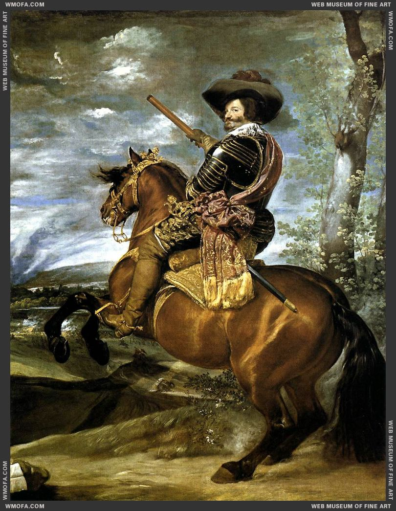 The Count-Duke of Olivares on Horseback 1634 by Velazquez, Diego