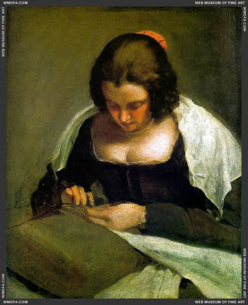 The Needlewoman c1640 by Velazquez, Diego
