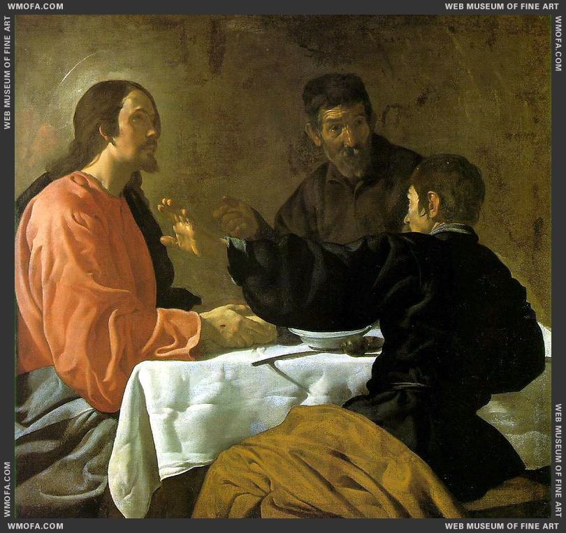 The Supper at Emmaus c1620 by Velazquez, Diego
