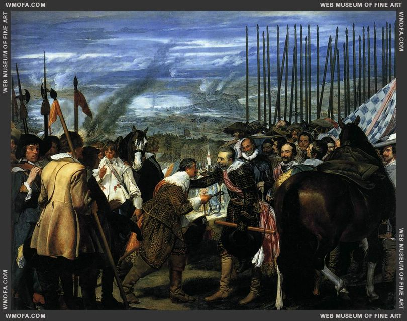 The Surrender of Breda - Las Lanzas - 1634-1635 by Velazquez, Diego