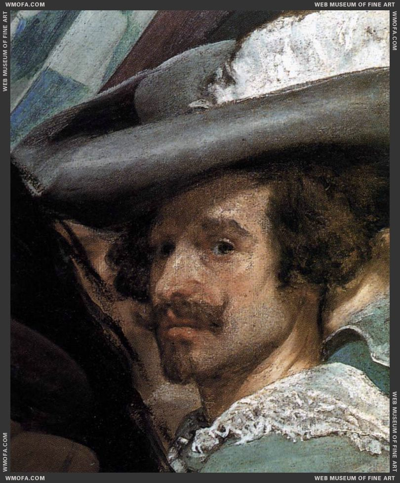 The Surrender of Breda - detail artists self-portrait - 1634-1635 by Velazquez, Diego