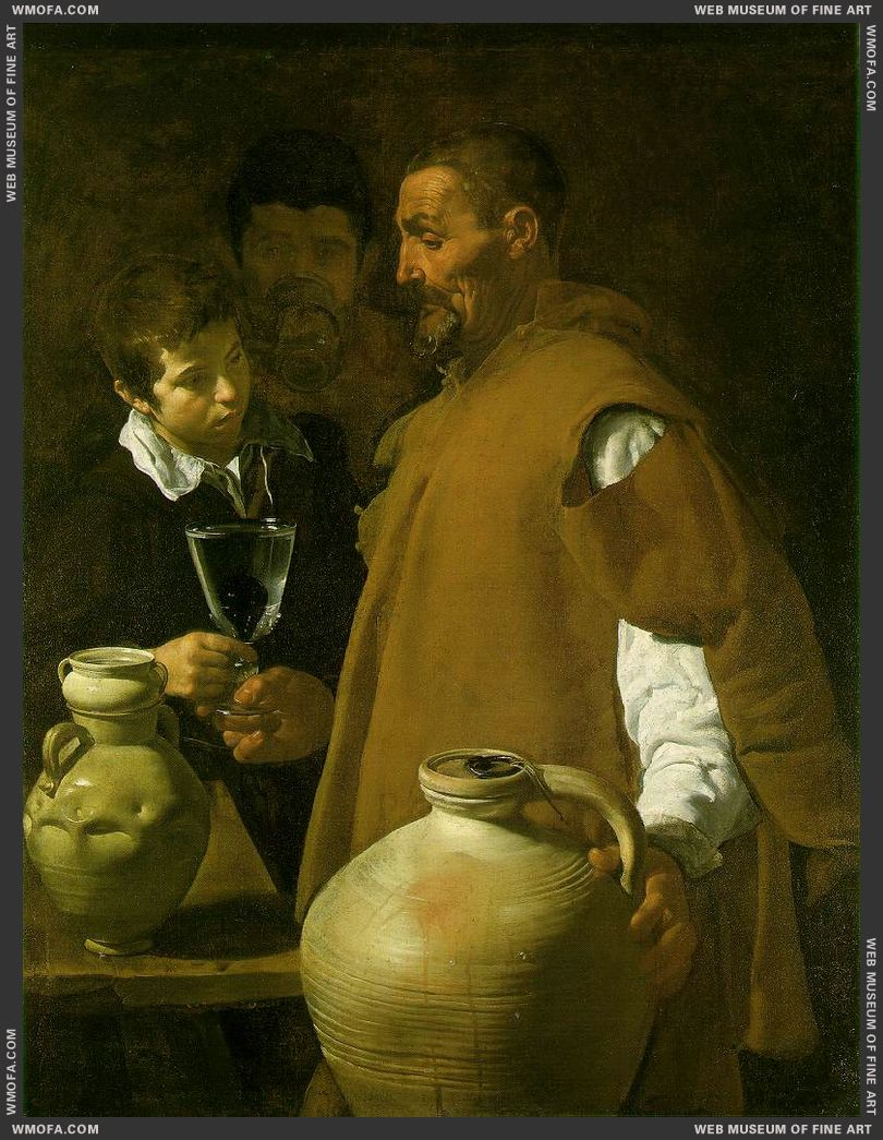 The Waterseller of Seville 1623 by Velazquez, Diego