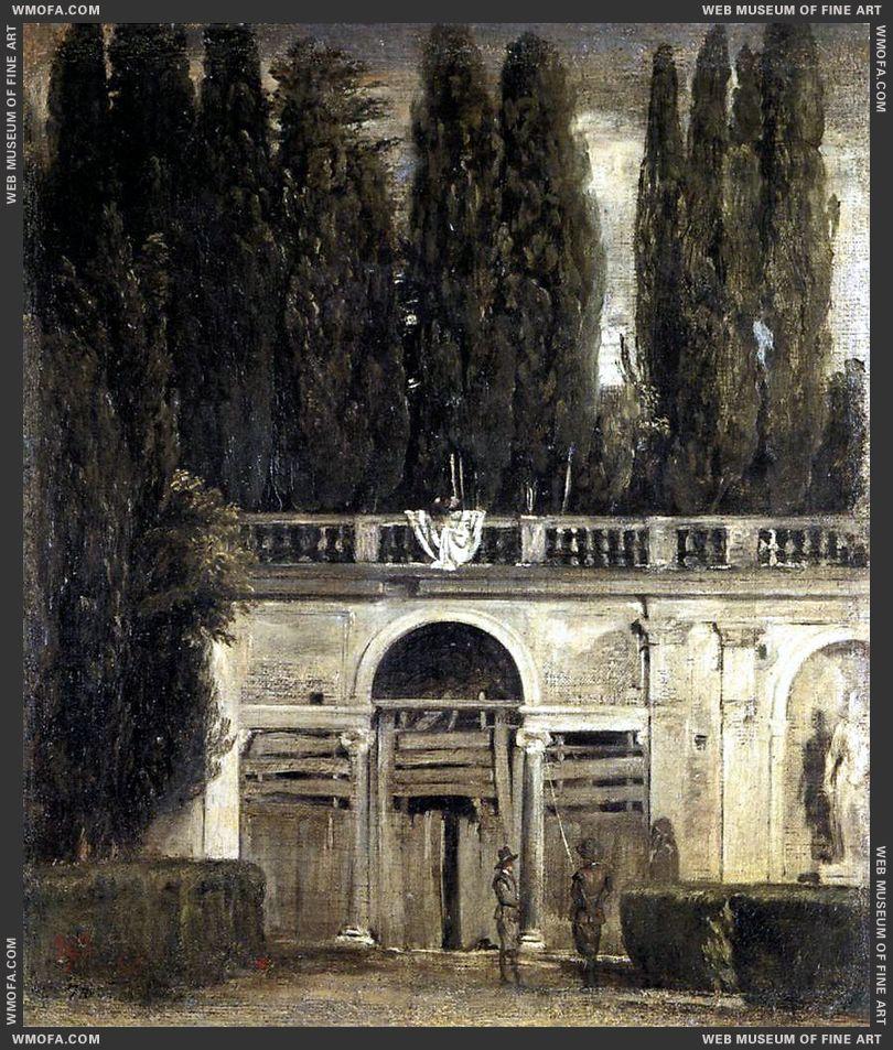 Villa Medici, Grotto-Loggia Facade 1630 by Velazquez, Diego